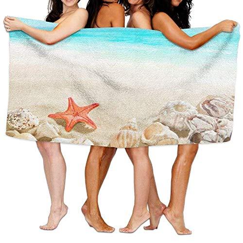fregrthtg Unisex Sea Shells Starfish Beach Sand Beach Towels Washcloths Bath Towels for Teen Girls Adults Travel Towel Pool and Gym Use 31x51 inches