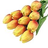Dwevkeful Flores Artificiales para Manualidades-20pcs Flores de Tulipán Artificial (sin jarrón Incluido) Decorativo Artificial Decorativo Flor Falsa para decoración de jardín, Boda o casa