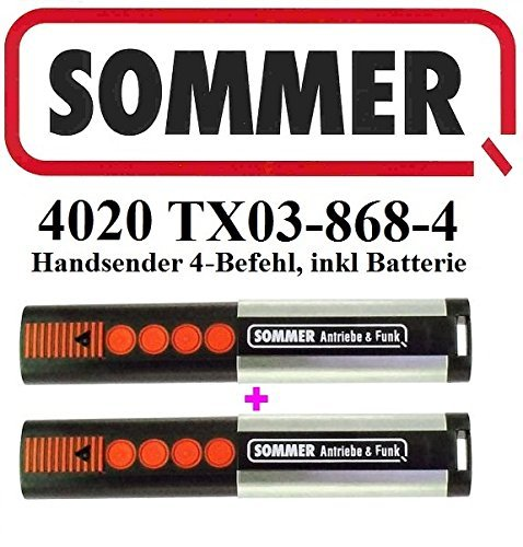 2 X Sommer 4020 TX03-868-4, 4 - Befehl 868,8MHz Original Handsender
