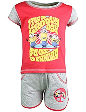 Set Shirt Kurze ärmel mit Short Minions Mädchen It's A Groovy Day