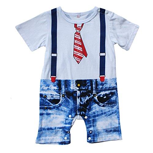 Dye Tie Anzug (iEFiEL Baby Jungen Kinder Strampler Eleganter Anzug Smoking Bodysuit Spielanzug Romper (0-6 Monate,)