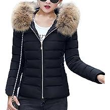Mujeres Invierno caramelo Abrigos con capucha de color de mujer invierno plumas fiesta parka cremalleras bolsillo