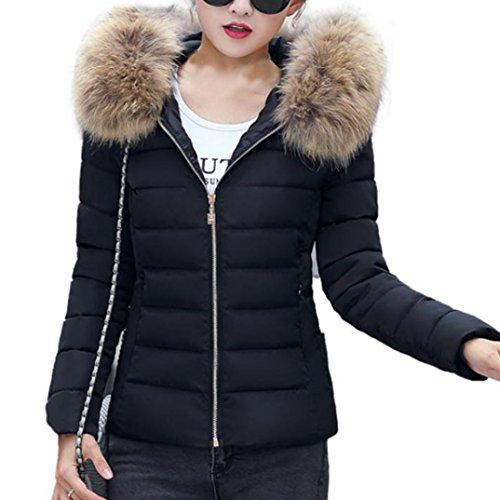 Mujeres Invierno caramelo Abrigos con capucha de color de mujer invierno plumas fiesta parka cremalleras bolsillo chaquetas mujer moto deportivas baratos ropa de mujer en oferta Sannysis