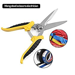 Pawaca Wire Cutters, Wire Stripping Shears, Professional Stainless Steel Scissors Wire, Insulated Flexible Cables
