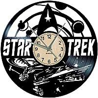 EVEVO Star Trek Reloj de Pared Vinilo Tocadiscos Retro de Reloj Grande  Relojes Style habitación Home c056596481b