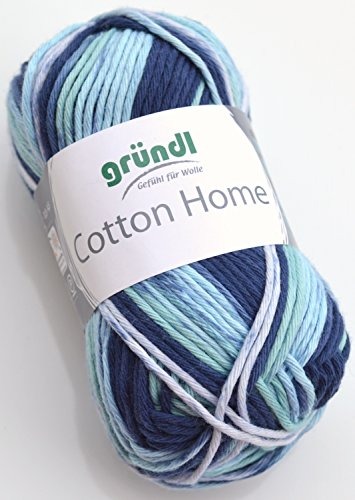 Gründl Wolle Cotton Home, Farbe:06 sky multicolor