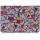 Samsung Galaxy Tab S2 8.0 Case Cover/ S2 Nook 8.0 Case , Thankscase Lightweight Owls Canvas Case Cover with Smart Cover Built-in Elastic Hand Strap and Wallet and Stand for Tab S2 8.0/ s2 nook (Grey)