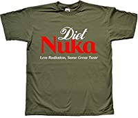 Diet Nuka Drink Less Radiation Same Great Taste Funny Green T Shirt Extra Large