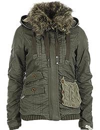 Khujo Felice chaqueta oliva, Frauen:L