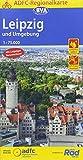 ADFC-Regionalkarte Leipzig und Umgebung, 1:75.000, reiß- und wetterfest, mit GPS-Track Download (ADFC-Regionalkarte 1:75000)
