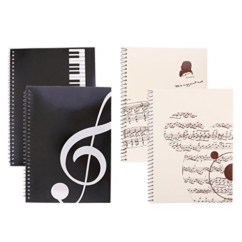 Almencla 4 Stü Musikalische Notation Mitarbeiter Notizen Buch Musik Manuskript Schreibpapier