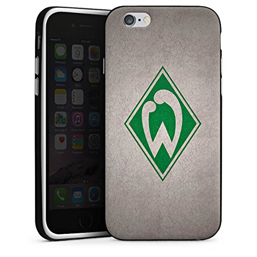 Apple iPhone 7 Hülle Case Handyhülle SV Werder Bremen Fanartikel Merchandise Fußball Silikon Case schwarz / weiß