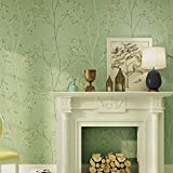 die retro - green, green garden äste, blätter, vliesstoffen, tapeten, wohnzimmer, schlafzimmer, fernseher, wand, ein produkt für 57.05 quadratmeter,klare grüne