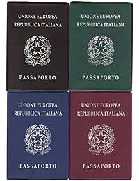 Takestop® Porta Pasaporte Documentos papel Identita '13x 9cm portapassaporto Color aleatorio