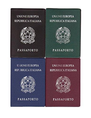 takestop® Tür Pass Dokumente Papier IDENTITA '13x 9cm Passhülle Farbe zufällig
