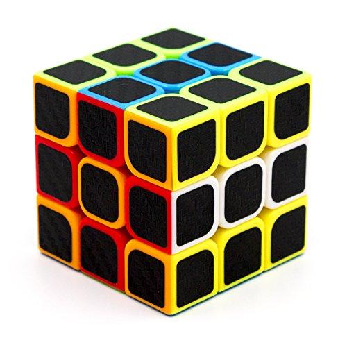3×3×3 Speed Cube, Carbon Fiber Sticker Twisty Puzzle für Kinder Intelligenz Entwicklung, Speed Cubing Anfänger oder Puzzle Enthusiasten (3×3×3 Carbon Fiber) (Benutzerdefinierte Shirts Mädchen)