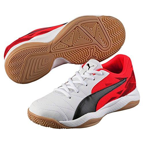 Puma - Veloz Indoor Iii Jr, Scarpe fitness Unisex – Bambini bianco - rosso - nero