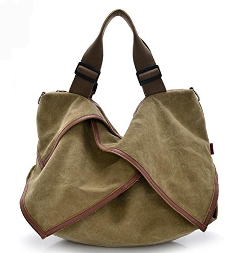 CHAOYANG-Borsa in pelle borse di tela portatile diagonale multiuso borse big bag , blue Khaki