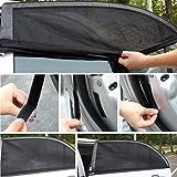 Basong 2er Set Sonnenschutz Mesh Auto für Kinder Baby Schwarz