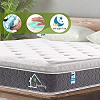Ej. Life 4FT6 Double Pocket Sprung Mattress with Memory Foam and 3D Breathable Fabric 9-Zone Support System - 100 Nights Trial