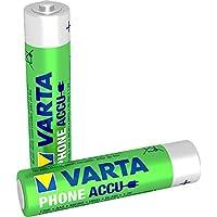 Varta Phone Accu Micro NiMh Akku (AAA 2er Pack, 800 mAh, geeignet für schnurlose Telefone, wiederaufladbar ohne Memory-Effekt - sofort einsatzbereit)