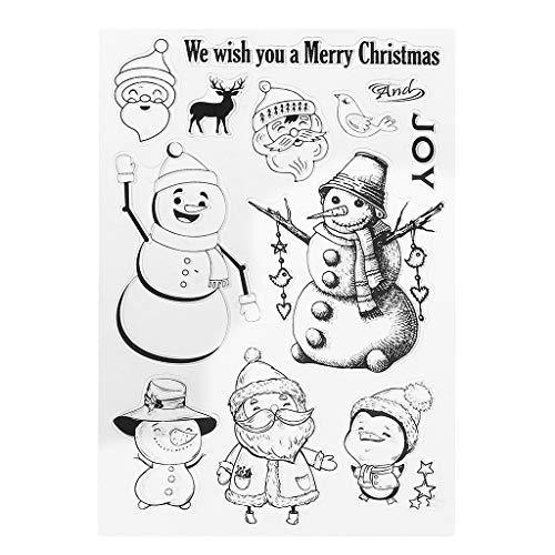 Tiyee Weihnachten Klar Stempel, Weihnachten Transparent Clear Clear Stamps Für Scrapbooking DIY Papier Karte Geschenk
