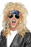 Smiffys Déguisement Homme, Kit du rockeur heavy metal, Blond, avec perruque, lunettes et bandana, 41568