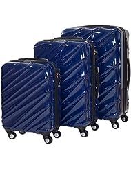 Shaik 7203090 Trolley Koffer, 3er Set ( M, L, XL), dunkelblau