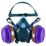 ENJOHOS Atemschutzmaske Halbmaske für Staub,Sprüh,Politur und Schleifarbeiten
