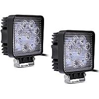 TBI Arbeits & Rückfahrscheinwerfer LED Lampe, 27W, 2500 Lumen, 12V, 2-er Pack