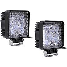 Leetop 2 x LED PLESON Arbeitsscheinwerfer - 1800 lumens - superficie hell (27 W)