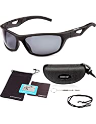 8ece8e69b4632 essence  Polarised Sports Sunglasses Mens   Womens – UV400 Eye Protection  Cycling Glasses – Also