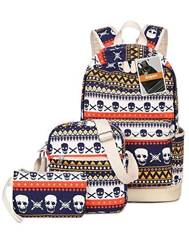 leaper-cool-multi-color-school-backpack-set-bookbag-shoulder-bag-pencil-bag-3pcs