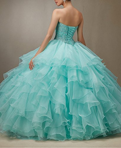 Bridal_Mall - Robe - ball gown - Femme Bleu - Aqua