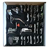 32Pcs Pieds-de-Biche Machine à Coudre Accessoires de Couture Domestiques Professionnels Pour Singer Brother Janome Kenmore Babylock Elna Toyota New Home Simplicity et Machines à Coudre Basses