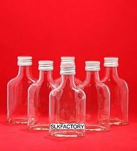 Lot de 20 flacons vides en verre avec fermeture à vis pour liqueurs, eau de vie, vinaigre, huile 12,3 cm 100 ml
