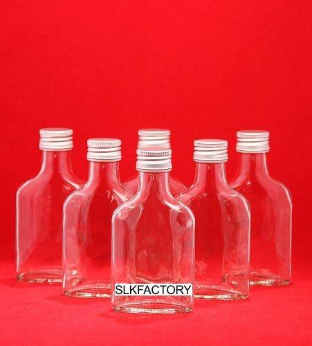 Juego de botellas de vidrio 20 unidades 100 ml, 12,3 cm de altura, con