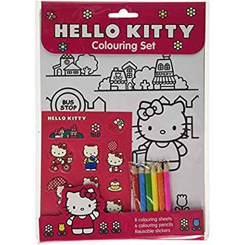 Hello Kitty Set per Colorare con Stickers
