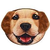 Flauschiger Kindergeldbeutel / Kinderportemonnaie (Münzbörse) mit süßem Hundemotiv (Hündchen/Welpen als 3D Animal Print) inkl. Plüsch-Ohren (mit Reißverschluss) (Braun)