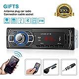OCDAY Autoradio Bluetooth,Apoyo de Reproductor MP3, Llamadas Manos Libres, Función de Radio, y de Función de Radio,Jugador de Radio del Coche Bluetooth/USB / SD/AUX / FM