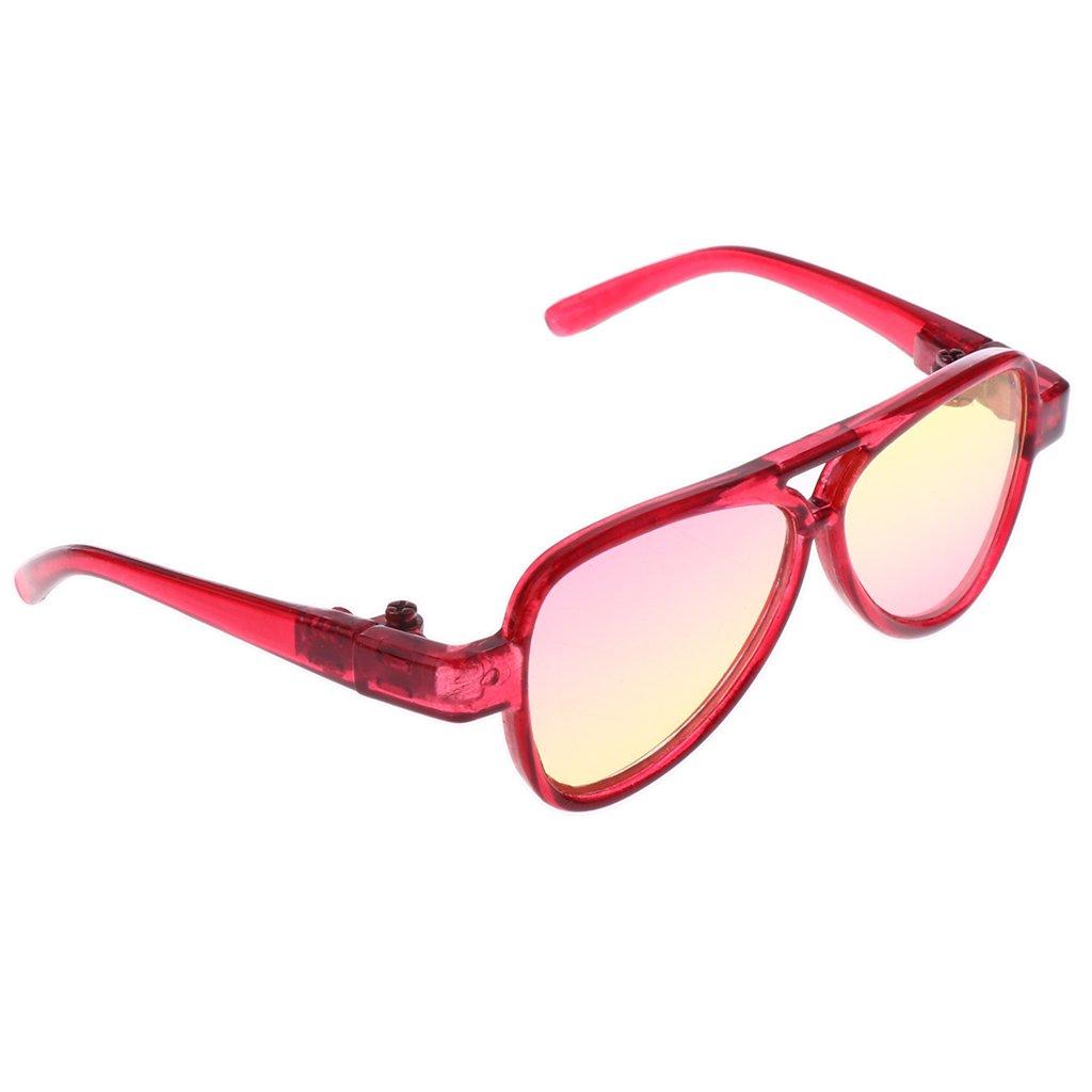 MagiDeal Occhiali Vista Specchio Ovali Telaio Moda Stile Per 1/3 BJD Bambole Accessori Plastica - Ro