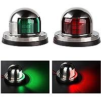 Sharplace 2x Lámpara LED de Navegación Pieza de Seguridad 12V Repuesto para Barco Marino Yate