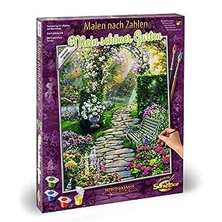 Schipper 609130804 MNZ Malen nach Zahlen-Mein schöner Garten, 40 x 50 cm