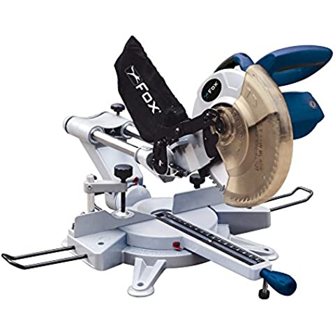 Fox F36-255A - Troncatrice Radiale, Modello Doppie Barre Superiori Con Lama Da 254Mm E Puntatore Laser