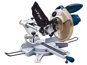 Fox F36-255 Scie à onglet télescopique avec dispositif laser Lame de 254 mm de diamètre