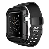 Apple Watch Armband 42mm,Simpeak Schutzhülle mit Elastischen Strap Band für iWatch 42mm-Schwarz