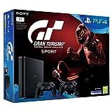 Sony Playstation 4 Slim 1TB + Gran Turismo Sport GT + 2x Dualshock Controllers 1000GB Wifi Negro - Videoconsolas (PlayStation 4, Negro, 8192 MB, GDDR5, GDDR5, AMD Jaguar)