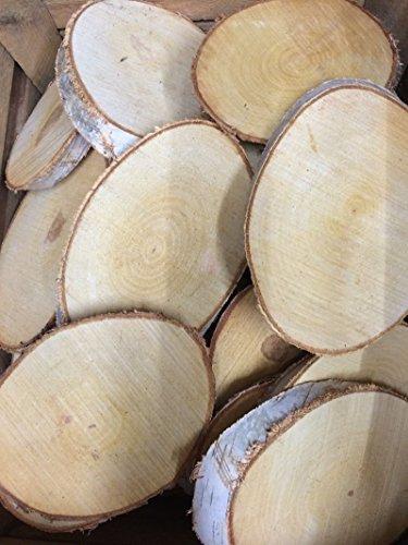 Natural Log Slice Birch Tree Bark Wedding Table Decoration Centerpiece 22-30cms