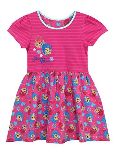 Shimmer & Shine Vestido para niñas Rosa 3 - 4 Años
