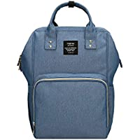 ae6a412801353 Diaper Backpack,Baby Nappy Changing Bag with Waterproof Changing Mat,Stroller  Hook Mum Rucksack